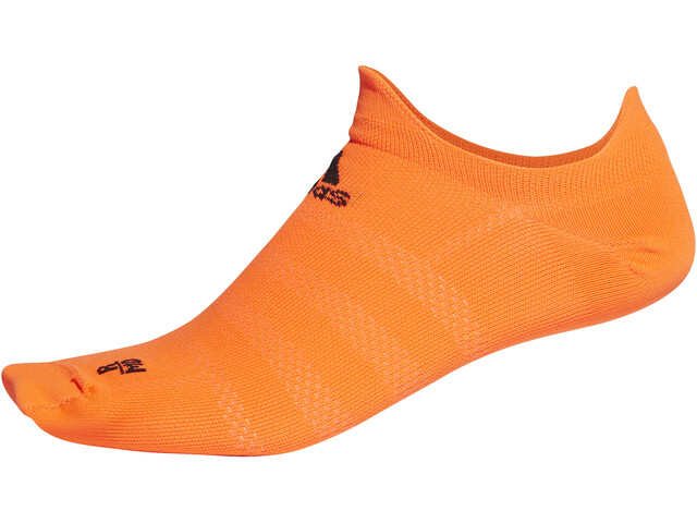 adidas Alphaskin Ultralight Calcetines No Show Hombre, solar orange/black